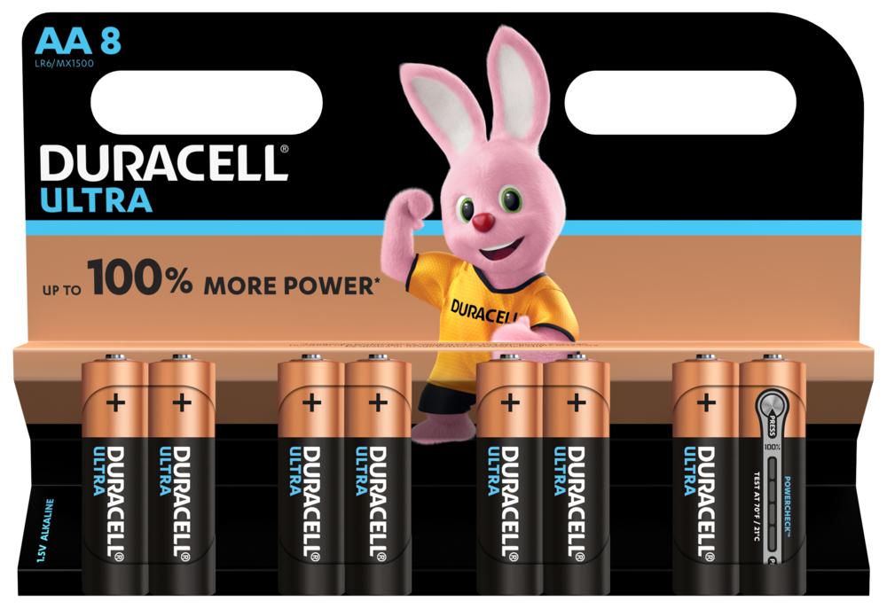 Duracell Ultra Power LR6 AA/Mignon Batterie (Alkaline), 8-er Blister