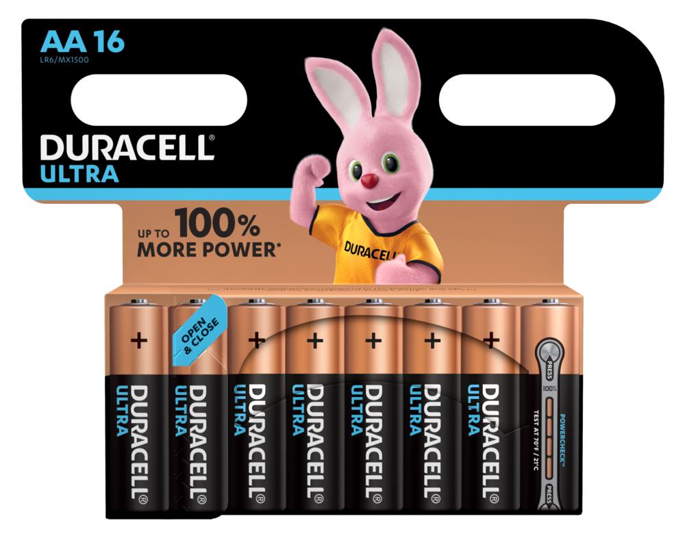 Duracell Ultra Power LR6 AA/Mignon Batterie (Alkaline), 16-er Blister