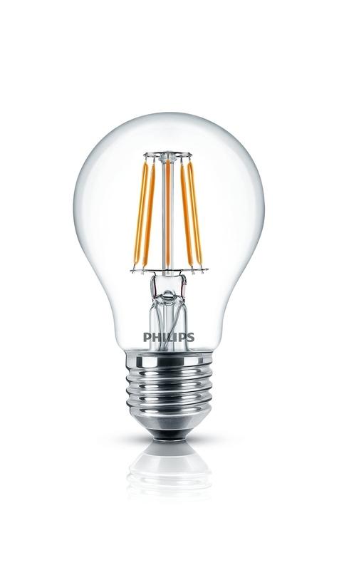 Philips Classic LEDbulb 4,3W (ersetzt 40W) 827 E27 15.000h Glühlampenform