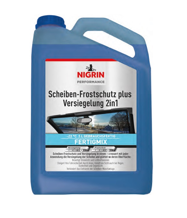 NIGRIN Performance Scheiben-Frostschutz plus Versiegelung 2in1 (3 Liter)