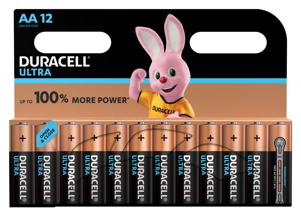 Duracell LR6 Batterie Ultra Power (Alkaline), AA/Mignon 12-er Blister