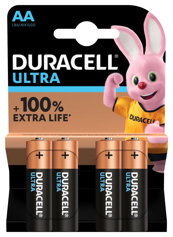 Duracell LR6 Batterie Ultra Power (Alkaline), AA/Mignon 4-er Blister