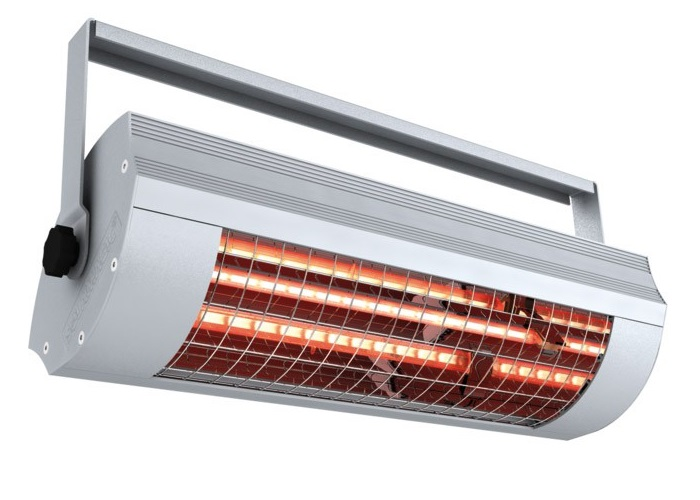 Solamagic Infrarotstrahler SM-LG-1400-T, Low Glare, Farbe: Titan, Spannung: 230V