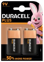 Duracell Plus Power 6LR61 9V-Block Batterie (Alkaline), 2-er Blister