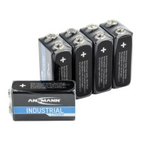 Ansmann 9V-Block Batterie Industrial (Lithium), 9V-Block 5-er Pack