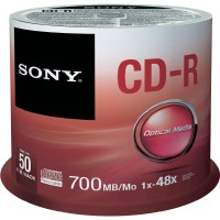 CD-R Sony 700MB 80min 48x (Spindel) 50-er Spindel