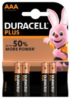Duracell Plus Power LR03 AAA/Micro Batterie (Alkaline), 4-er Blister