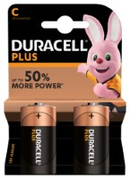 Duracell Plus Power LR14 C/Baby Batterie (Alkaline), 2-er Blister