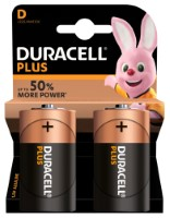 Duracell Plus Power LR20 D/Mono Batterie (Alkaline), 2-er Blister