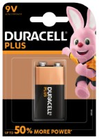 Duracell 6LR61 Batterie Plus Power (Alkaline), 9V-Block 1-er Blister