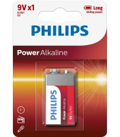 Philips 6LR61 Batterie Phillips Powerlife (Alkaline), 9V-Block 1-er Blister