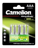 Camelion Akku HR03 Micro (Always Ready To Use) 800mAh NiMH 4-er Blister (vorgeladen)