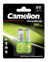 Camelion Akku HR22 9V-Block (Always Ready To Use) 200mAh NiMH 1-er Blister (vorgeladen)