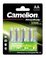 Camelion Akku HR6 Mignon (Always Ready To Use) 2.300mAh NiMH 4-er Blister (vorgeladen)
